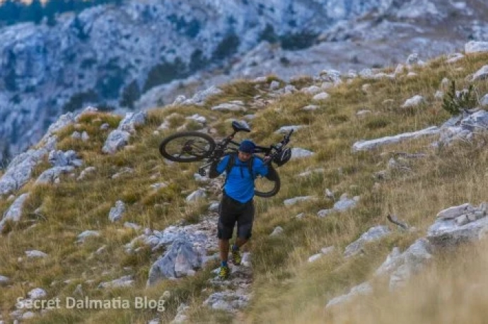 Extreme Cycling: Biking Down from Croatia's Highest Peak at Sinjal